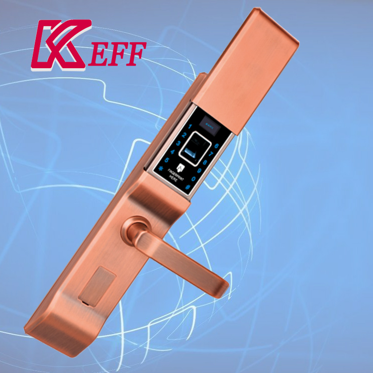 Material Zinc alloy wholesale best brand biometric fingerprint door lock with rfid system good body