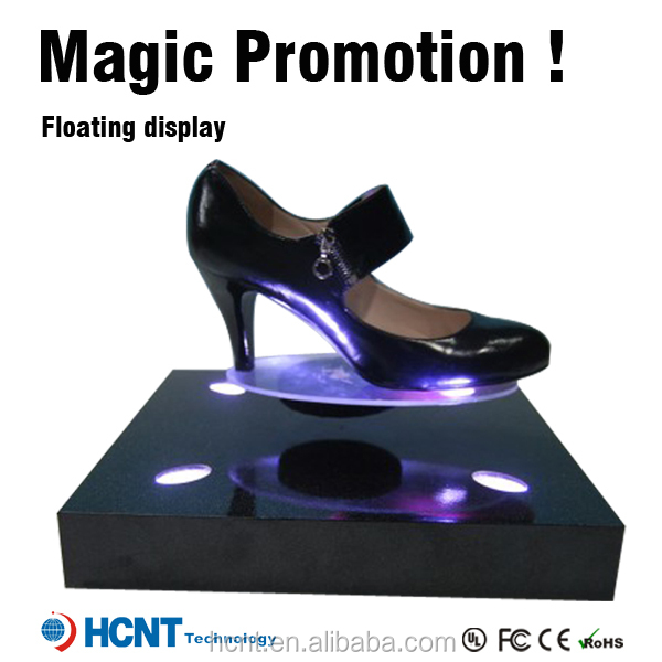 New Invention ! Hot sale magnetic levitation display shoe rack for gifts