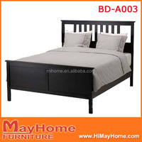 Promotional solid pine wood king size beds made in china