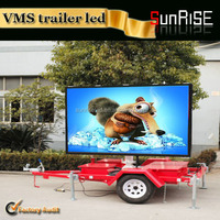 P10 P8 P6 high quality scrolling led sign for t-shirt high quality outdoor advertising led display p10 dip mobile trailer led