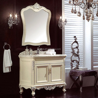WTS-2500 Old English White 790 basin unit Mirror Type bathroom cabinet with 1 tap hole basin