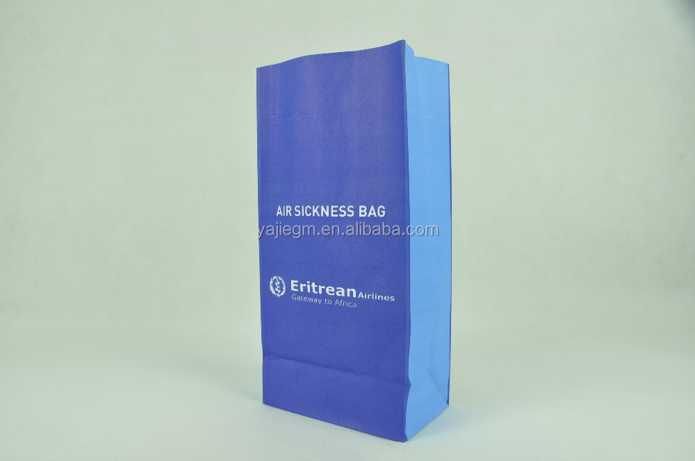 PE plastic coated paper air sickness paper bag