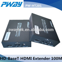 PWAY 1080P HDMI Extender HD Base T Support Bidirectional IR over cat5e or cat6 HDMI Extender 100M