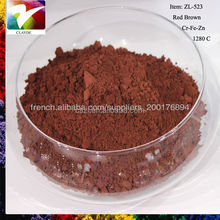 Ceramic color pigment powder coating ceramic paint color glaze stain Red Brown pigment for tile and glass mosaic
