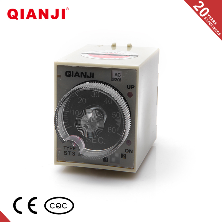 QIANJI China Suppliers ST3P Series 8 Pins Electronic Time Relay 12 Volt