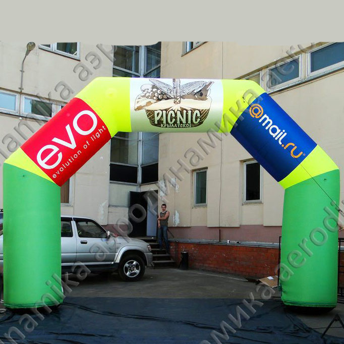 Cheap giant advertising Oxford material is very cheaper and durable, inflatable Christmas arch for big promotion