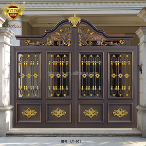 Luxurious home & apartment front door house gate grill designs garden gate LY-901