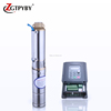 1.5hp solar dc well pump 50mtrs 220v dc submersible deepwell solar water pump