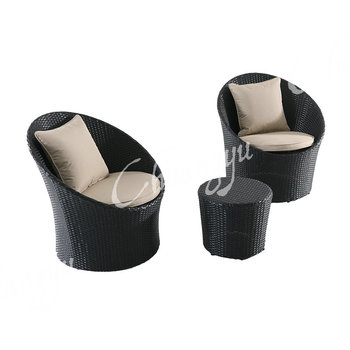 Special lovely design for room decoration patio sitting round wicker garden sets