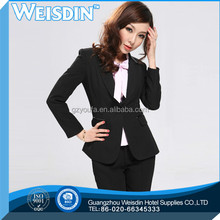 anti-static high quality polyester/rayon lady two-piece suit