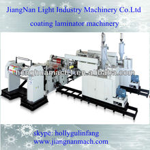 coating laminating machine with two extruders coating PE on paper aluminum foil from china