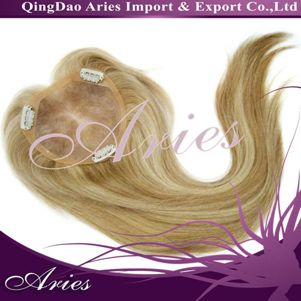 Virgin Peruvian Remy Hair mono base clips in top closure
