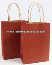 New design kraft brown paper bag with handles