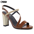New fashion wholesale chunky heel woman sandals for hot-selling PL1216