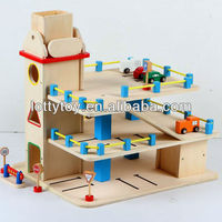 Wooden Parking Lot Toy For Kids