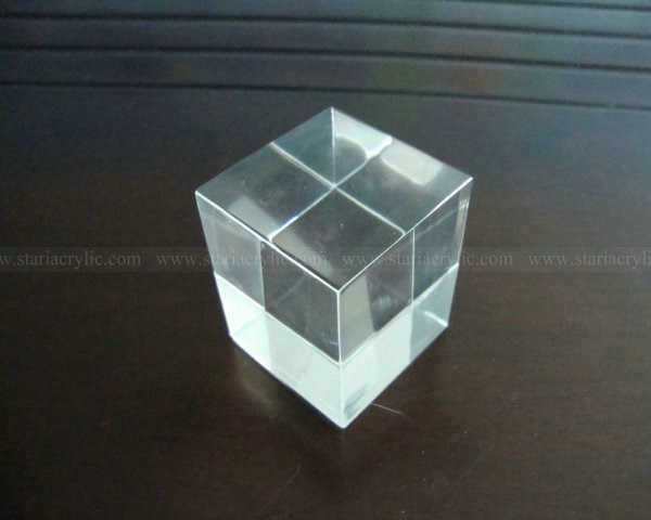 Acrylic Display Blocks, Solid Acrylic Cube, Small Plexiglass Blocks