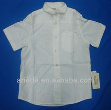 Boys Linen White Shirt Stock, Lots Kids Clothes Surplus