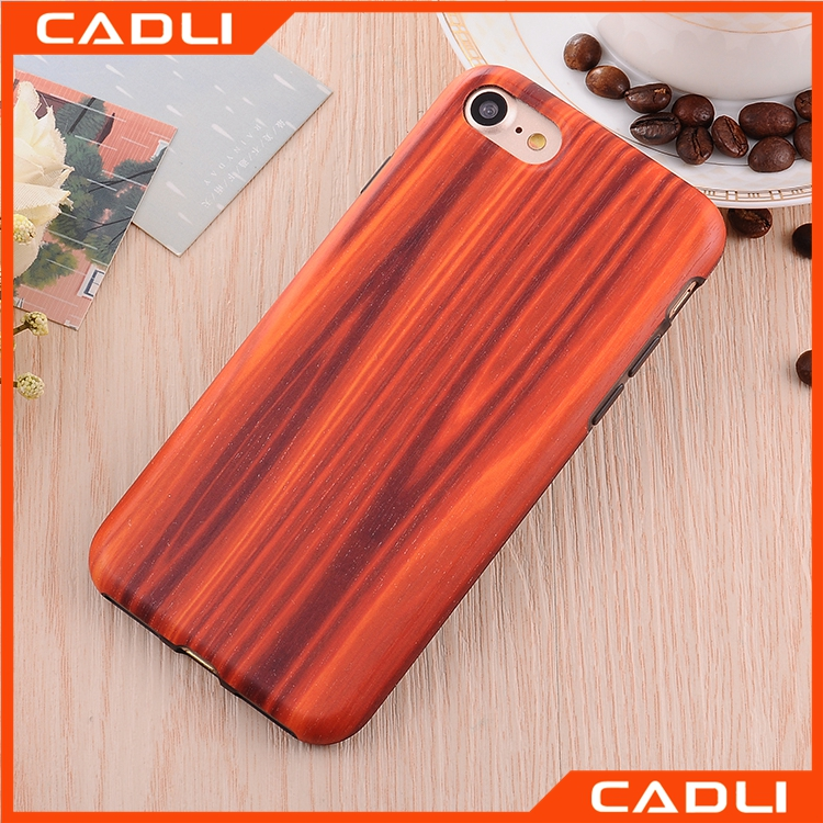 New Arrival Clear Color PC TPU Back Cover Shockproof Wooden Pattern Case For iPhone 6 7 7Plus