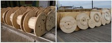 Wooden cable drum reel