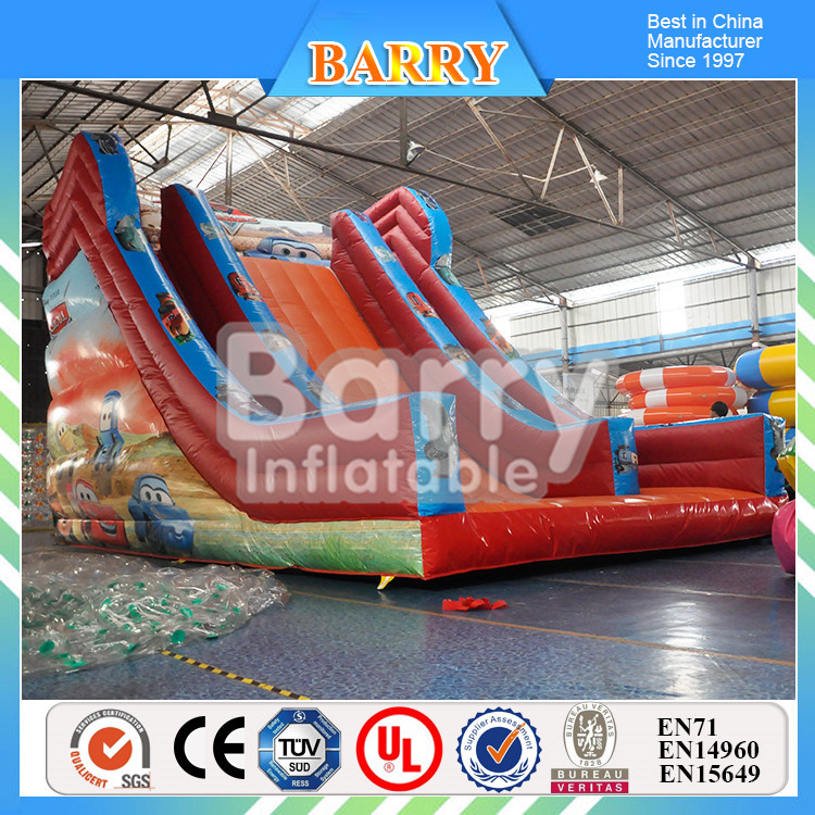 Fine Design outdoor toys children outdoor games/childrens garden car inflatable slide