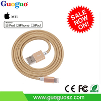 MFi Certified 100% Original Nylon Braided MFI Cable 8 Pin C48 iOS9.0 USB Data Charging Cable MFi for iPhone 6