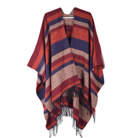 Alibaba best sellers hand knitted plain wool Acrylic shawl Wholesale