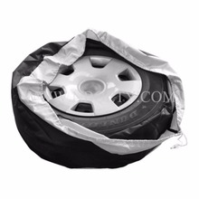 4Pcs/Set Universal Black Oxford Spare Tyre Cover Waterproof Dust-Proof Auto Tire Storage Bag Size Adjustable For Toyota Ford