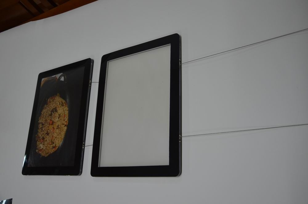 new design manufacture crystal poster frame magnetic double side display menu board