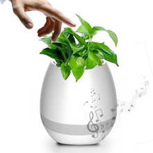 ABS Plastic Bluetooth Speaker Smart Music Flowerpot with LED Light