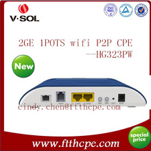 FTTX Solution 1BiDi-SFF+2GE+1POTS+WiFi Access Point to Point P2P Fiber Gateway