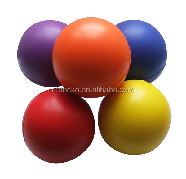 Different colors soft PU foam 7cm cusotm logo stress ball for promotion