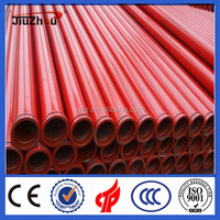 Twin wall coated concrete pump tube/small concrete pump/ concrete pump deliver pipes