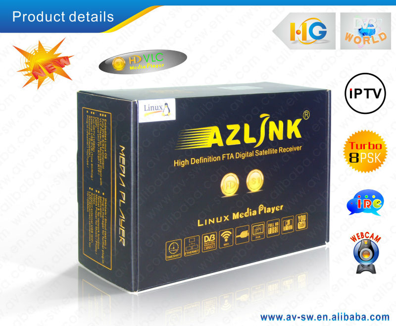 New Product HD media player support turbo 8PSK Azlink HD S1