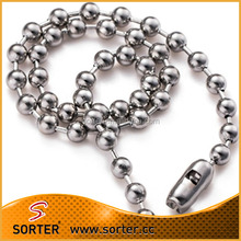 Fashion silver/green/gold small round stainless steel ball chain wholesale