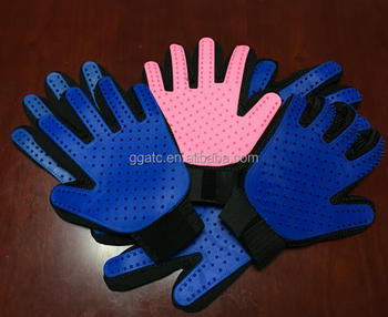 Cat/dog grooming glove,deshedding glove grooming with TPR and Silica gel material
