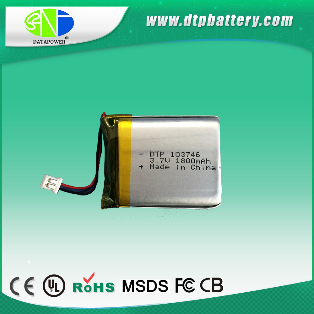 New style Low Cost 1800mah 3.7v polymer lithium ion battery pack