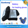 Power start rechargeable 3.7v lithium polymer battery for hearing gloves