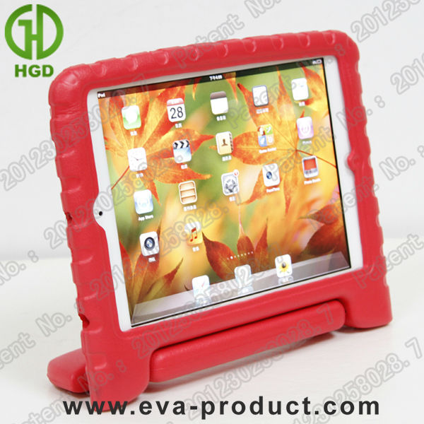 Stand for ipad mini Child Kid Proof Soft EVA tablet casing Red