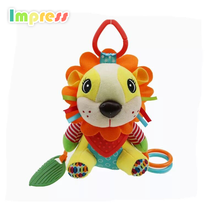 Small baby toys musical hanging rattle toys for kids with teether and bell