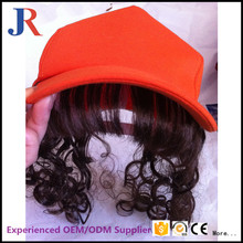 China supplies high quality custom ponytail baseball cap wigs