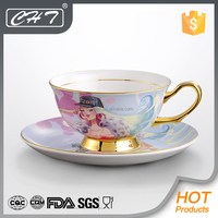 Elegant ceramic tea cup and saucer wholesale