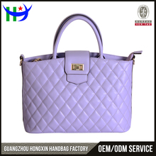 Purple exotic bags women handbags exotic leather handbag manufactures outside pocket quilted tote bag
