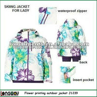 SNOW WINTER JACKET FOR LADY/ LADY'S 3 IN 1 SKI JACKET/ OUTDOOR SNOW JACKET