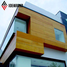alucobond facade timber aluminum metal cladding