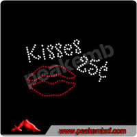 Bling Design Kiss with Mouth Hotfix Pattern Rhinestone