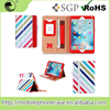 New Original Colorful PU Tablet Cover With Hand Hold For iPad mini 4 Flip Case