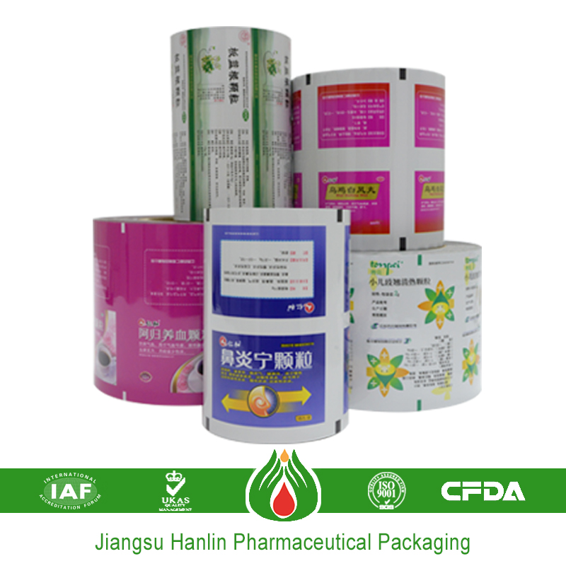Printed plastic food packaging aluminum foil roll price