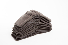 Easy to Dry Organic Double Gussets Charcoal Bamboo inserts cloth diaper liners