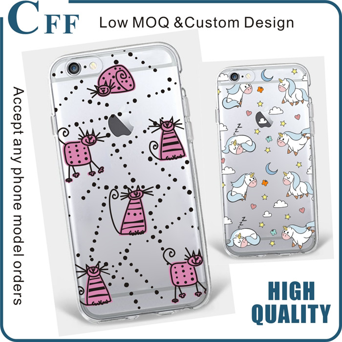 For iPhone6 Case 6S 6sPlus Soft Transparent Cute cartoon Cat Rabbit Emojio Phone Case back cover for samsung galaxy j2 a9 pro