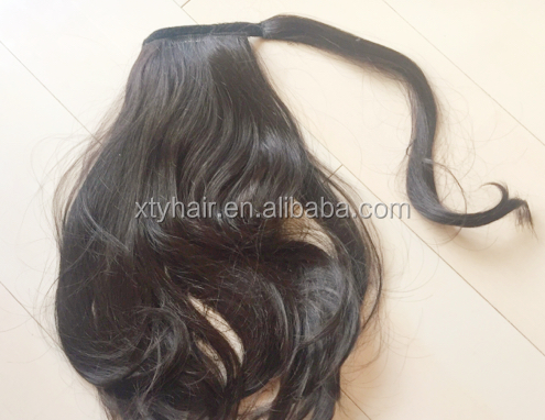 hair extensions clip ins hair extensions synthetic fibre pony tail